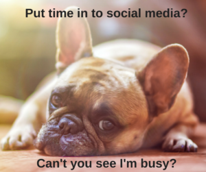 Put time in to social media?